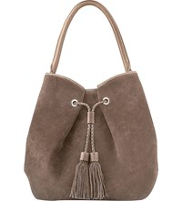 Lk Bennett Thelma Suede Bucket Bag Tau Taupe