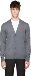 Givenchy Grey Embroidered 'Love' Cardigan