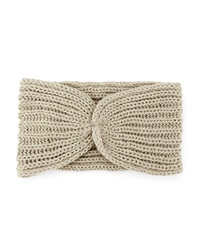 Hat Attack Knotted Ribbed Headband Taupe