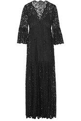 Rachel Zoe Andoni Corded Lace Maxi Dress Black