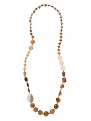 Chesca Multi Tonal Long Beaded Necklace