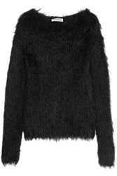 Jil Sander Faux Fur Sweater Black