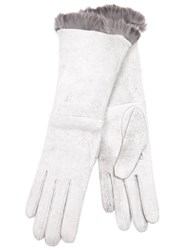 Imoni Fur Lined Gloves Grey