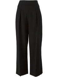 3.1 Phillip Lim Cropped Pleated Trousers Black