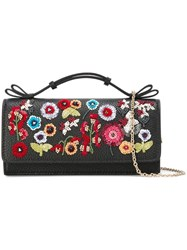 Red Valentino Embellished Flowers Bag Black