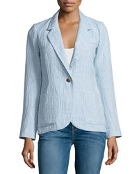 Smythe Dickens One Button Blazer Chambray Women's