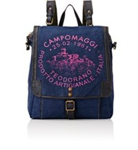 Campomaggi Women's Logo Convertible Backpack Blue