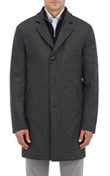 Kiton Men's Cashmere Zip Front Jacket Dark Grey