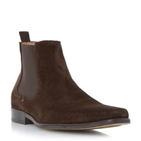 Dune Marky Slip On Formal Chelsea Boots Brown