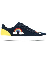 Mira Mikati 'Rainbow Patched' Sneakers Blue
