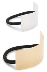 Metallic Cuff Ponytail Holders 2 Pack Gold Silver