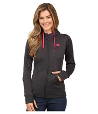 The North Face Fave Full Zip Hoodie Tnf Dark Grey Heather Cabaret Pink Women's Sweatshirt Black