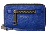 Marc Jacobs Gotham Zip Phone Wristlet Cobalt Blue Wristlet Handbags