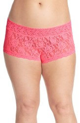 Hanky Panky Plus Size Women's Stretch Lace Boyshorts Sizzle Pink