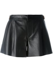 Coach Leather Shorts Black
