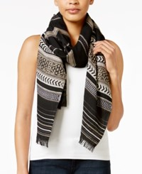 Inc International Concepts Trendy Woven Wrap Only At Macy's Black