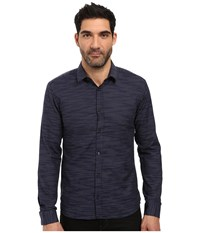 Hugo Ero3 Horizontal Stripe Navy Men's Clothing
