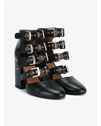 Laurence Dacade Maja Leather Ankle Boots Black Silver
