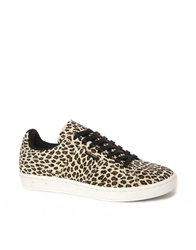 Gourmet Rossi Leopard Trainers White