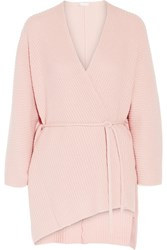 Eres Morning Wool And Cashmere Blend Cardigan Baby Pink