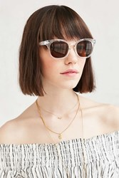 Urban Outfitters Lifeguard Square Frame Sunglasses Clear