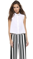 1 By O'2nd Eco Fabric Patch Top White