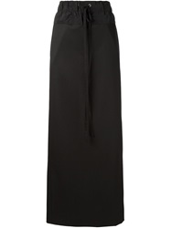 Vera Wang Drawstring Maxi Skirt Black