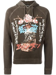 Dsquared2 'Back In Nagasaki' Hoodie Brown