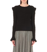 Philosophy Textured Wool Knit Jumper Black