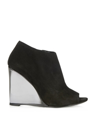 Burberry Keston Suede Wedge Boots