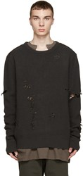 Yeezy Season 1 Grey Patched And Destroyed Sweater