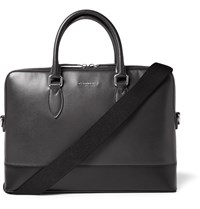 Burberry London Bi Colour Grained Leather Briefcase Gray