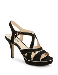 Karl Lagerfeld Eloise Platform Stiletto Sandals Black