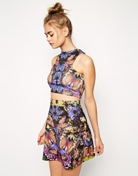 Asos Co Ord A Line Skirt In Butterfly Print Multi
