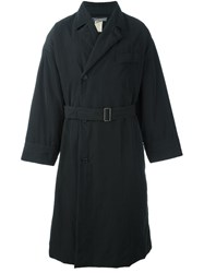 Issey Miyake Vintage Belted Long Trench Coat Black