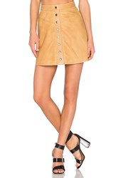 Muubaa Holland Mini Skirt Tan