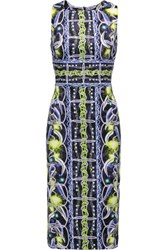 Peter Pilotto Kia Printed Crepe Midi Dress Multi