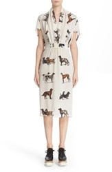 Stella Mccartney Women's Dog Print Silk Dress