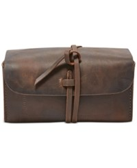 Fossil Men's Artisan Leather Travel Kit Dark Brown