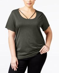 Styleandco. Style Co. Plus Size Cutout Neck Top Only At Macy's Carbon Grey