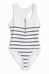 Heidi Klein Stripe Racer Back One Piece Multi
