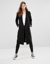 Only Maxi Long Wool Coat Black