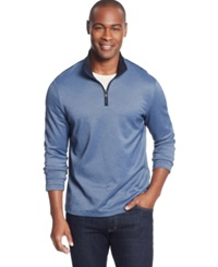 Alfani Black Fitz Feeder Quarter Zip Sweater Only At Macy's Neo Navy