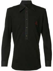 Vivienne Westwood Man Long Placket Polo Shirt Black