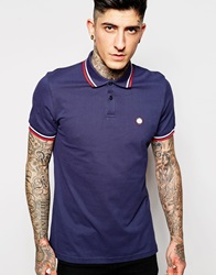 Pretty Green Polo Shirt With Tipping Navy