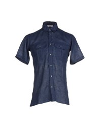 Gran Sasso Shirts Shirts Men Dark Blue