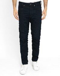 G Star Blue Staq 3D Raw Twisted Tapered Pockets Chinos