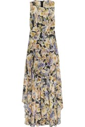 Needle And Thread Floral Print Chiffon Gown Ecru