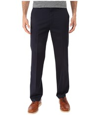 Dockers Signature Khaki D1 Slim Fit Flat Front Navy Men's Dress Pants