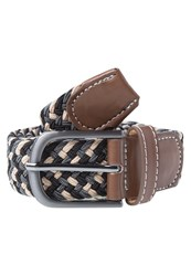 New Look Vaughan Braided Belt Tan Multicoloured